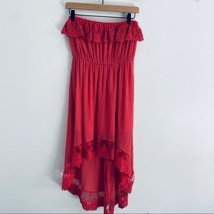 Umgee High Low Strapless Boho Dress